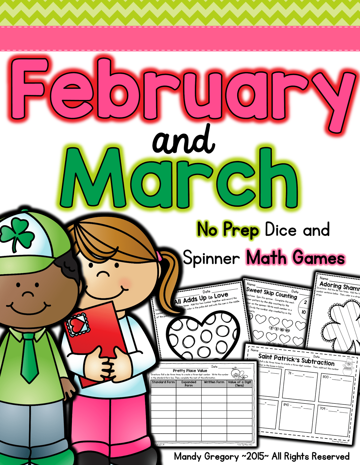 https://www.teacherspayteachers.com/Product/Easy-Prep-Math-Games-February-and-March-1697710