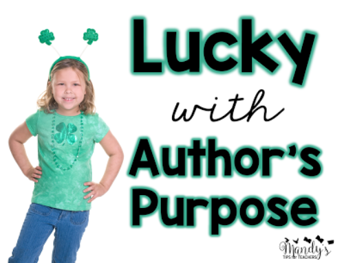 Author's Purpose: Easy as PIE (and More) FREEBIE!