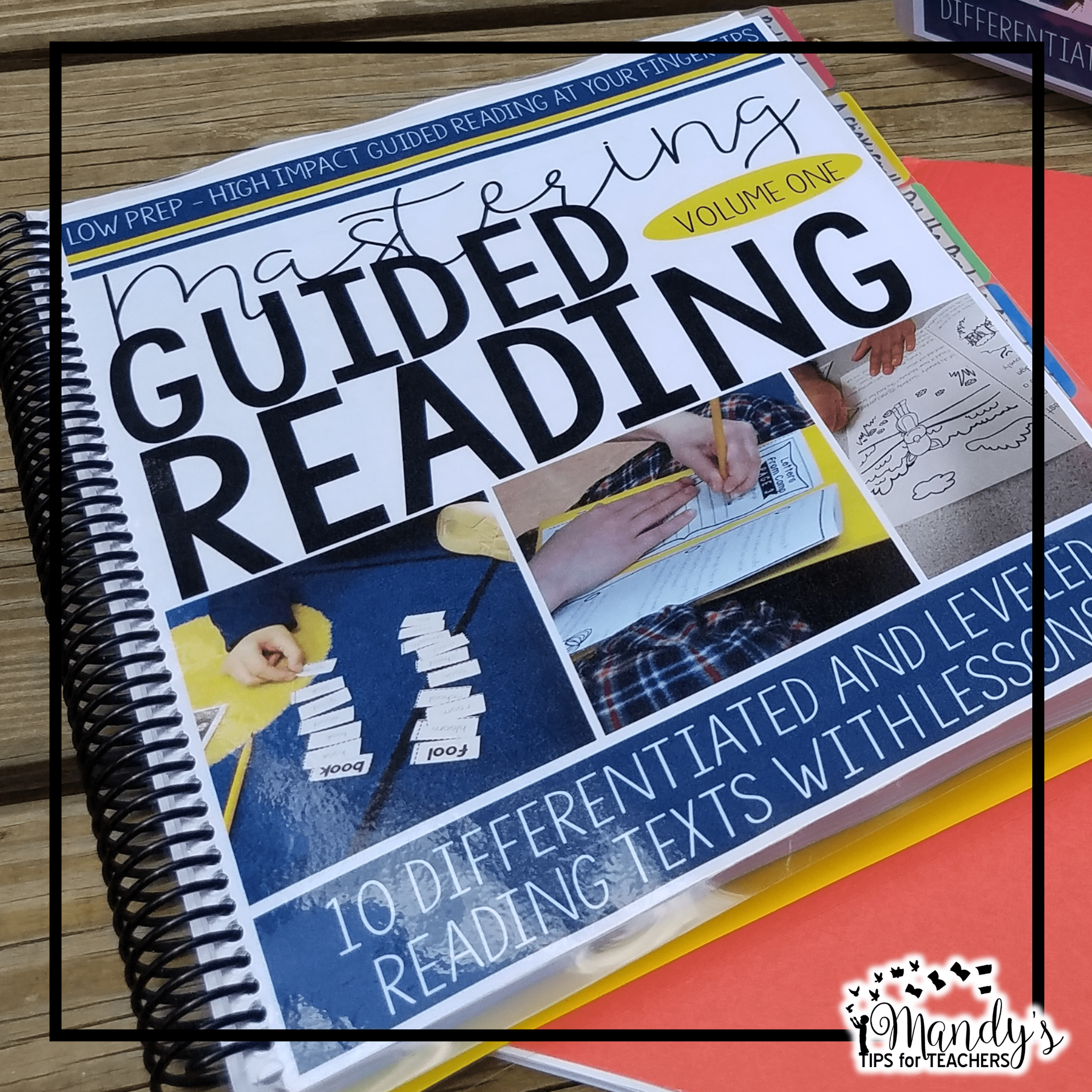 Spiral bound copy of Mastering Guided Reading
