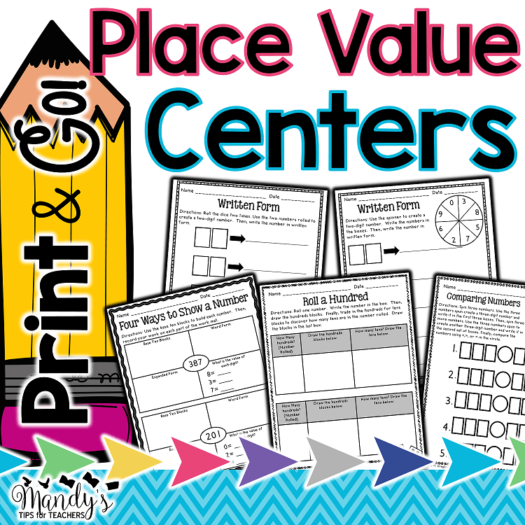 Print and Go! Place Value Centers
